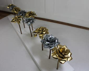 Metal rose collection