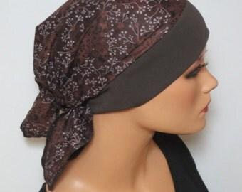 Head scarf Hat/CHEMO Hat dark brown fashion practical convenient