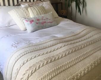 Handmade Chunky Woolen Bed Runner