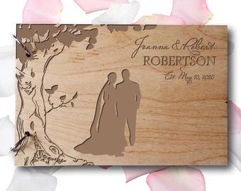 Wedding GuestBook Wood Guest Book Wedding Gift Engraved Guest Book Personalized GuestBook Love GuestBook Couples GuestBook Rustic Guest Book