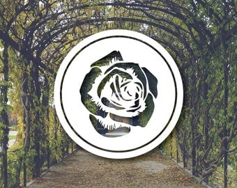 Rose Vinyl Decal