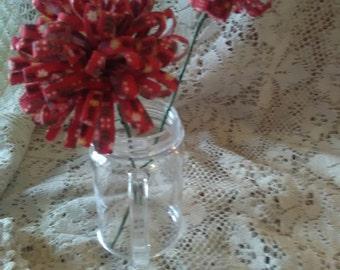 Fabric flowers handmade