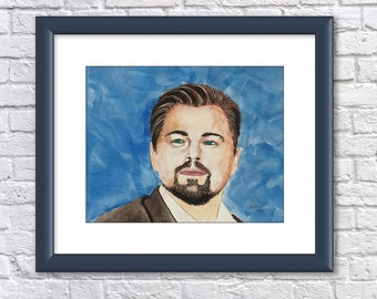 DiCaprio - 8x10 Watercolor Painting