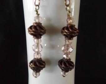 Bronze Spiral Drop Earrings
