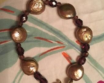 Pearl and Amethyst Bracelet