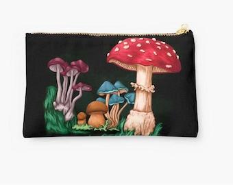 Kit has black makeup - ground mushrooms - Pencil Pouch