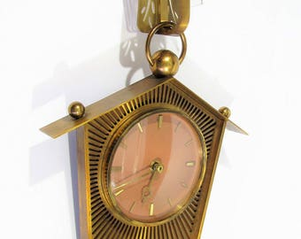 vintage Wall clock brass