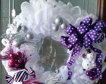 White Winter Door Wreath