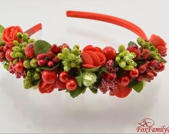 Headbands - Flower crown - rose crown - Floral hair wreath - Flower headpiece - Flower hair accessories- Bridal wreath - Wood crown