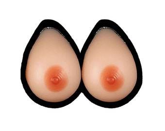 Breast Form 1200gram per Pair Mastectomy DD Cup Silicone Realistic Prosthesis Free Shipping UK