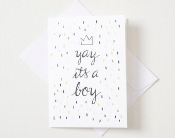 Greeting Card - Yay it's a boy