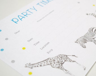 Invitations Blank - Animal Sketch