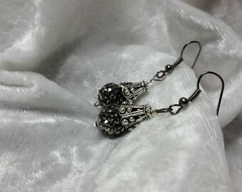 Smokey Black Fashion Drop Earrings