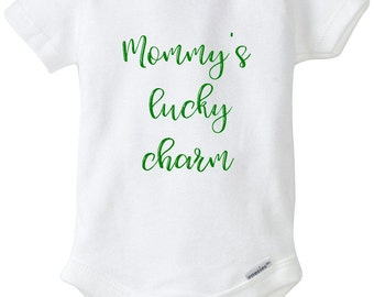 Mommy's Lucky Charm, Lucky Charm Onesie, Lucky Charm, St. Patrick's Day, St. Patty's Day, Baby Onesie