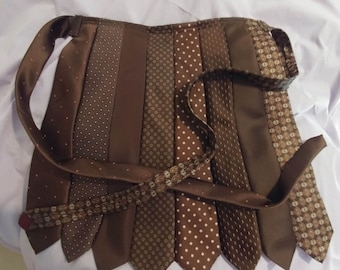 Half Apron Made from Neckties.....Beautiful Brown color mix...Perfect for any Occasion A Host or Hostess Must Have