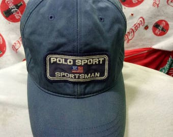 Vintage Polo Sport Sportsman hat 6 panel with patch Polo Sportsman Rare