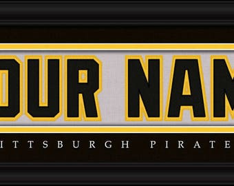 Pittsburgh Pirates Jersey Stitch Personalized Print - FRAMED - MLB