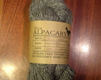 Undyed Charcoal Alpaca/Llama Blend:  100 Yards Worsted Weight