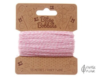 Baker yarn of bakers Twine Pink/White 33 m (PR 2)
