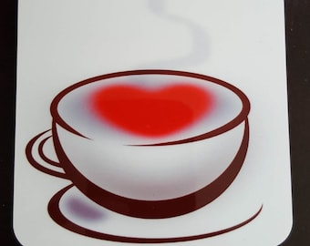 Coffee Cup Heart Coaster