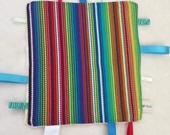Rainbow Striped Sensory Taggie
