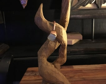 Wooden Handcarved Ring Stand