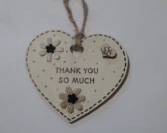 Thank You Heart Plaque