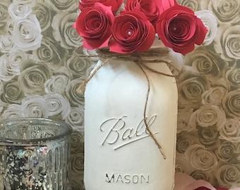 Vintage Mason Jar Centerpiece