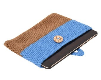 Blue & Pink Combo Crocheted Covers Cases Sleeves Pouch Bag for all size tablet Ipad Kindle electronics launched worldwide.