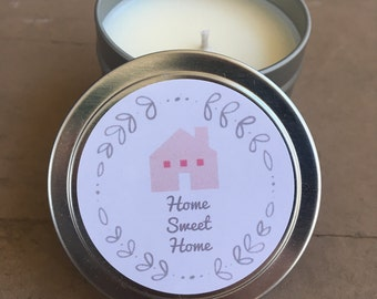 Soy candle, soy wax candle, hand-poured soy candle, candle tin