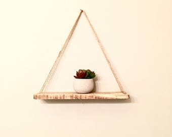 Hanging wall shelf/plant holder