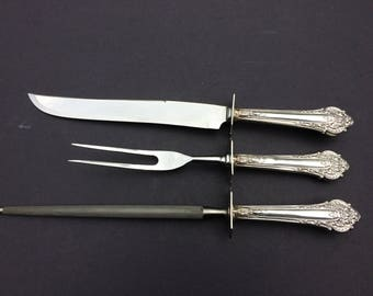 Sterling silver  Carving set of 3