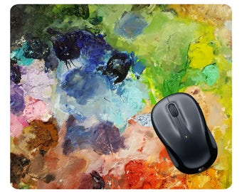 Paint palette mousepad Paint palette mouse pad Art mousepad Art mouse pad Art gift Mothers Day photo Painting mousepad Mothers Day Gift