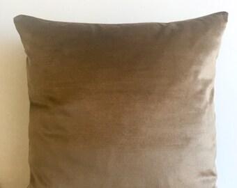 Light Coffe Velvet Pillow Cover Pillow Velvet Light Coffe Pillow Designer Pillow Velvet Pillows Velvet Cushion Cover Light Coffe Sofa Pillow