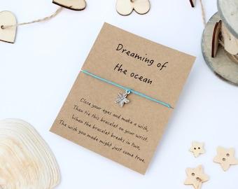 Starfish Wish Bracelet, Starfish Jewellery, Starfish Bracelet, Friendship Wish Bracelet, Ocean Jewellery, Ocean Bracelet, Starfish Charm