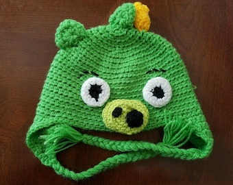 Angry Pig crochet hat