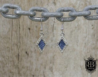 Earrings from Denim Jeans diamond blue