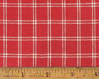 """Cherry Red 4 Homespun Cotton Fabric (Full Yard 36"""" x 44"""")"""