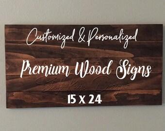 Custom Premium Wood Pallet Sign 15x24