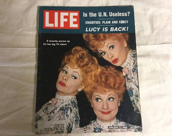 Life Magazine with Lucille Ball. JFK. 1962. Vintage