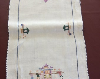 Vintage Orientalist Tablecloth with Napkins