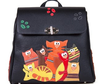 "Backpack ""Gang of cats"""