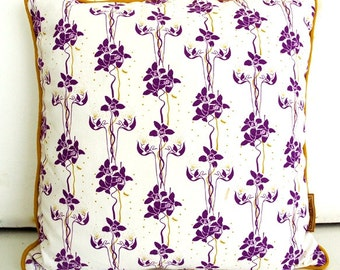 Cushion cover YLANG - model Orchid - 100% cotton - 45 x 45 cm - Colori plum