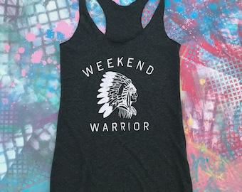 Weekend Warrior Shirt, Graphic Tank, Women's Tank, Workout Tank, Trendy Tops and Tees, Yoga Tank, Weekend Tee, Trendy Tee,