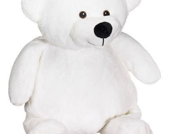 """16"""" White bear (Can be personalized)"""