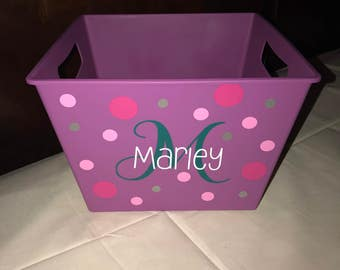 Personalized storage bin