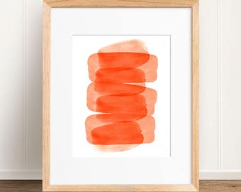 Orange Wall Art, Orange Digital Print, Orange Abstract Watercolor, Orange Wall Art, Orange Print, Orange Art, Orange Decor, Orange Abstract