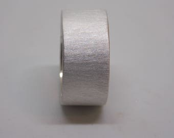 Satin finish sterling silver band (ring)
