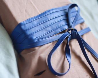 Wrap Me Up waist belt - waist belt blue corset belt tshirt dress  leather womens belt womens clothing thrift thriftstore 80's 90's grunge