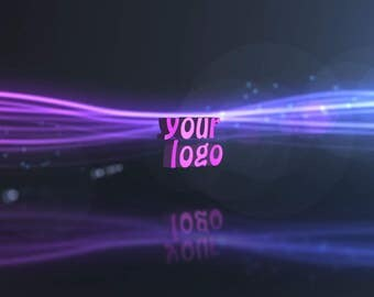 End screen video intro or outro, Energy lines, logo